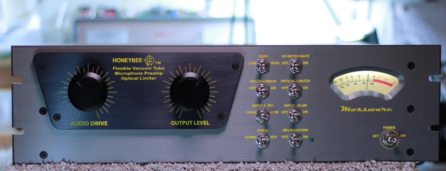 HoneyBee Vacuum Tube Mic Preamp Optical Limiter front panel